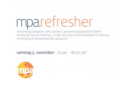 mpa.refresher |Auffrischungsworkshop für MPAexperten |Hamburg @ Hamburg | Hamburg | Hamburg | Deutschland